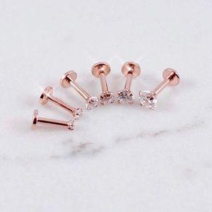 Single 16G Single Rose Gold Body Jewelry